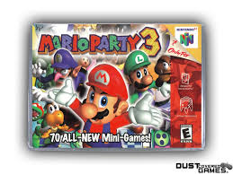 Mario Party 3 N64 Nintendo 64 Game Case Box Cover Brand New ...