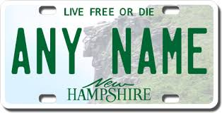 New Hampshire Replica State License Plate for Bikes Bicycles