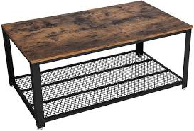 couchtisch coffeetable holz industrial metall loft rustikal modern vintage industrie design