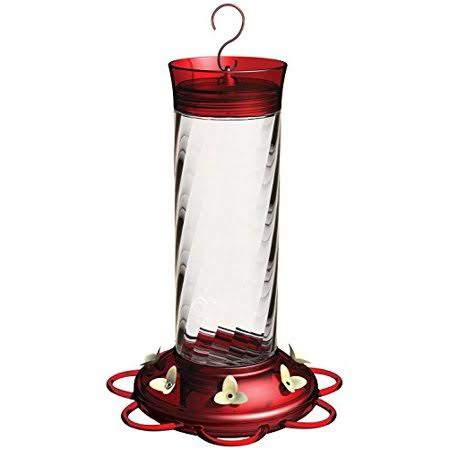 More Birds Diamond Hummingbird Feeder - Red