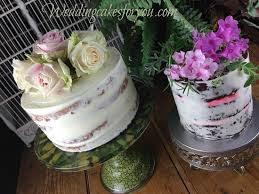 Naked cake or semi with fresh flowers or fruit