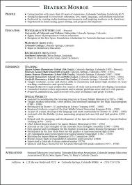 Format Of Good Resume For Teachers And Examples Teaching Resumes Example Sample Teacher