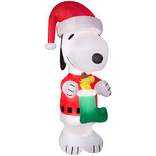 Gemmy 10ft X 452ft Lighted Snoopy Christmas Inflatable At Lowescom