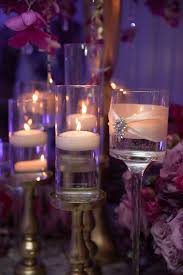 Reception Décor s Glass Votives Floating Tea Lights