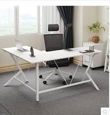 bureau en acier coin bureau d ordinateur de bureau acier bois bureau l