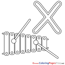 Xylophone Coloring Sheets Alphabet Free