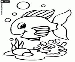A Little Fish At The Sea Bottom Tropical Fishes Coloring Page