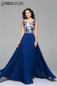 blue long ball dress promotion shop for promotional blue long ball