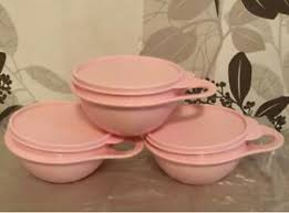 tupperware 3 x maximilian schüssel 600 ml rosa