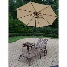 Walmart Patio Umbrellas With Solar Lights by Exteriors Magnificent 11 Foot Round Solar Cantilever Umbrella