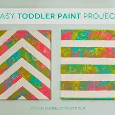 Easy Toddler Paint Project Nursery ideas Pinterest