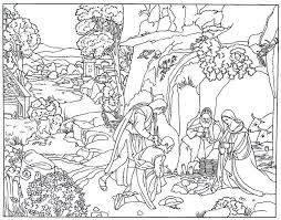The Adoration Of Shepherds Renaissance Painting By Giorgione Printable Coloring Book Page