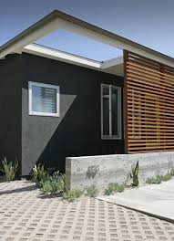 front entrance privacy screen entry modern with flat roof modern