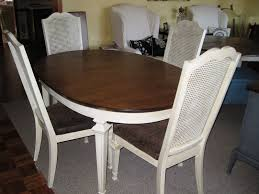 Cane Back Dining Chairs With Classic White High