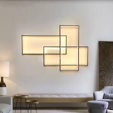 high bright 60w 80w 3000k 6000k rectangular led wall light