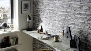 papier peint imitation carrelage cuisine coup de bluff dans la déco avec les revêtements muraux diaporama photo