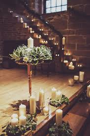 20 Photos Of Weddings Using Lots Candlelight Wedding Staircase DecorationWinter