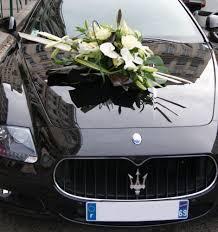 décoration florale pour voiture mariage