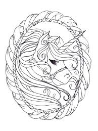 Unicorn Coloring Pages Printable Free For Adults Realistic