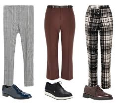 cropped pants and shoe combos to get your through the fall