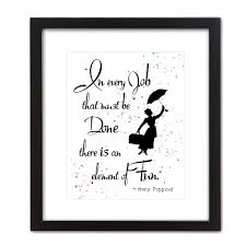 ArtDash Pop Art Print W Quote Mary Poppins Every Job Is Fun 8