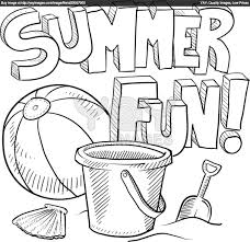 Summer Coloring Pages For Kids Is Fun Bucket Beach Ball And Showel