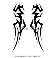 Tattoo Tribal Vector Designs Tattoos Art Isolated Sketch Of