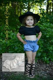 Girls Bohemian Style Crop Top Baby Tops Toddlers White