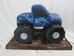 100 Blue Monster Truck Thunder CakeCentralcom