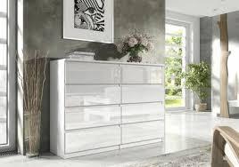 weiß kommode sideboard schubladen hochglanz modern wohnzimmer schlafzimmer 120
