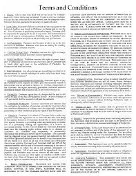 Standard Terms And Conditions For Services Template By Choice