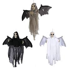 Halloween Flying Ghost Projector by Animated Flying Hanging Ghost With Red Eyes Scary Sound And Moving