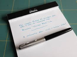 Parker 51 Ink Sample