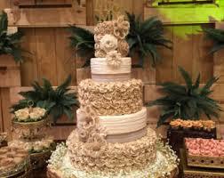 Rustic Wedding Cake Burlap Flower Assortment
