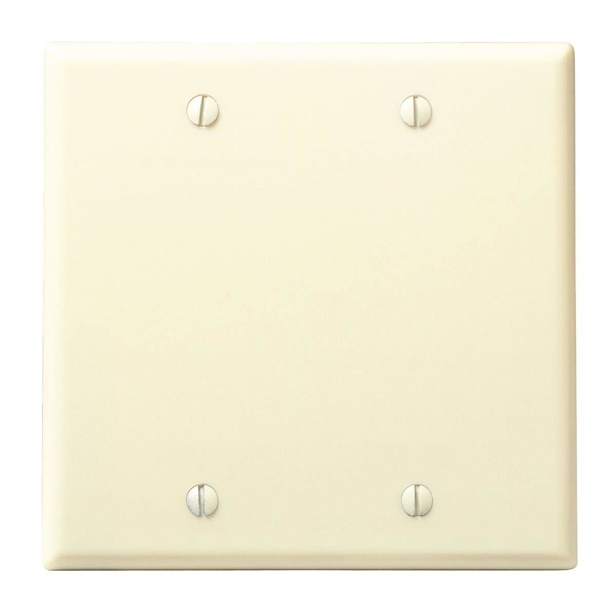 Leviton Blank Plate - Ivory, 2 gang