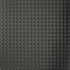 G Floor Diamond Tread 75 Ft X 17 Garage Flooring Roll In Midnight Black