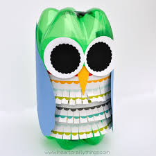 Soda Bottle Owl Craft