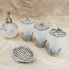 Bella Lux Mirror Rhinestone Bathroom Accessories by 100 Gold Crackle Bathroom Accessories Images Home Living Room