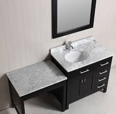 Bathroom Vanities With Dressing Table by Single Bathroom Vanity With Makeup Table Best Bathroom Decoration