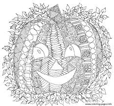 Pumpkin Smile Adult Halloween Coloring Pages