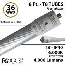 8 ft t8 light 36 watt led replaces t12 75 w fluorescent