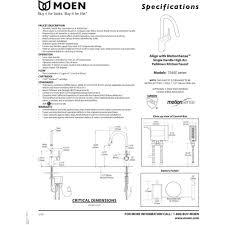 Moen Motionsense Faucet Manual by Moen 7565ec Align Chrome Pullout Spray Kitchen Faucets Efaucets Com