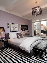 Contemporary Bedroom Idea In New York With Purple Walls