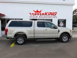 Gold Ford F250 Crowned With LEER 100XQ - TopperKING : TopperKING ... Lets Lower A Custom Shortened F250 Super Duty Bainbridge Client Upgrades Truck With Accsories Amp Research Bedxtender Hd Sport Bed Extender 19972018 Ford Hard Trifold Cover For 19992016 F2350 F 250 Parts Led Lights Shoppmlit 2017 Car 1374 Nuevofencecom Alignment Best 2013 Truckin Magazine Series Frontier Gearfrontier Gear Tent Rbp 94r Rims In 2011 King Ranch Street Dreams