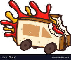 Cool Food Truck Royalty Free Vector Image - VectorStock