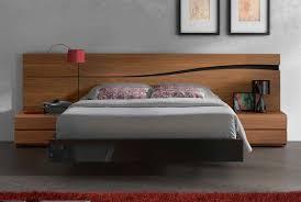 high platform bed frame with floating style decofurnish