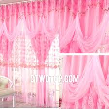 Pink Ruffled Window Curtains by Pink Valance Curtains Full Size Of Light Pink Valance Extra Wide