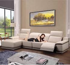 wohnzimmer sitzgruppe ecksofa sofa liege elektrische echtem leder schnittsofas muebles de sala moveis para casa