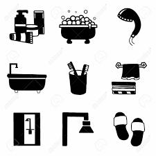 vector badezimmer symbol auf weißem hintergrund