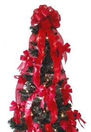 Red Christmas Bow Tree Toppers